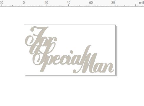 for a special man 82 x 45 pack of 10  card size