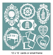 Card sized or small scrapbook frame pack,12 x 12