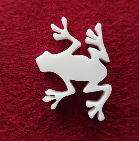 Frog Brooch or earring size acrylics see drop down box for order
