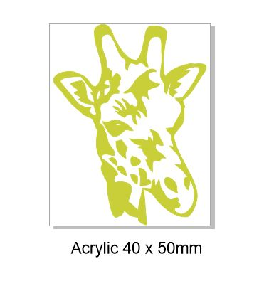 Giraffe Acrylic yellow Acrylic(brooch pack of 4)( Earrings pack