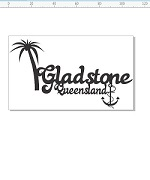 Gladstone Queensland 110 x 65, palm tree and anchor 5   individu