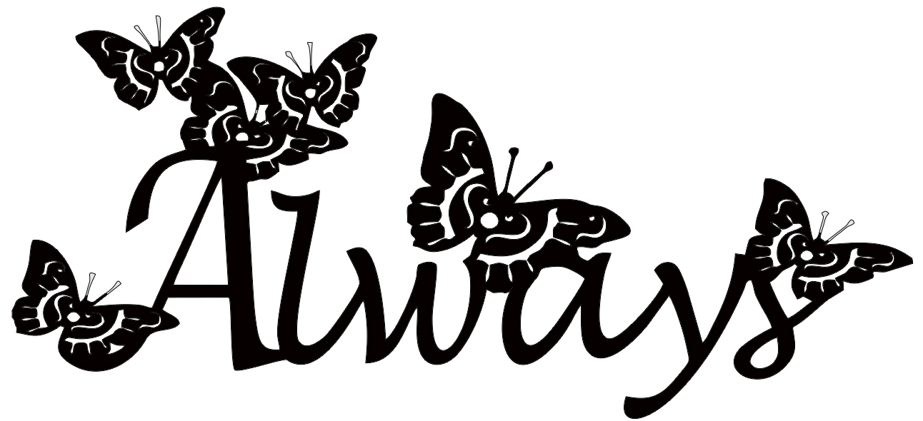 Always butterflies 110 x 50 single packaged