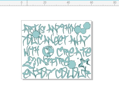 Grunge create inspire rubber stamp  RUBBER ONLY  stamp 60 x 50
