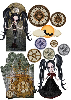 Halloween 4 designed for Mixed Media Journals, cards