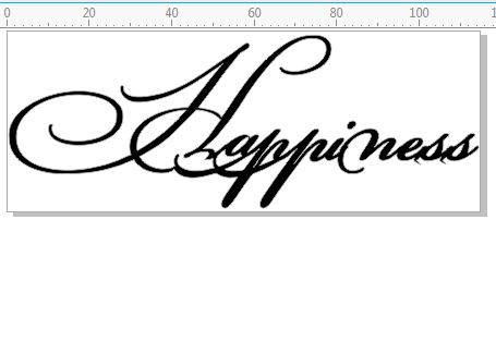 Happiness  Script 115 x 44mm Min Buy 3