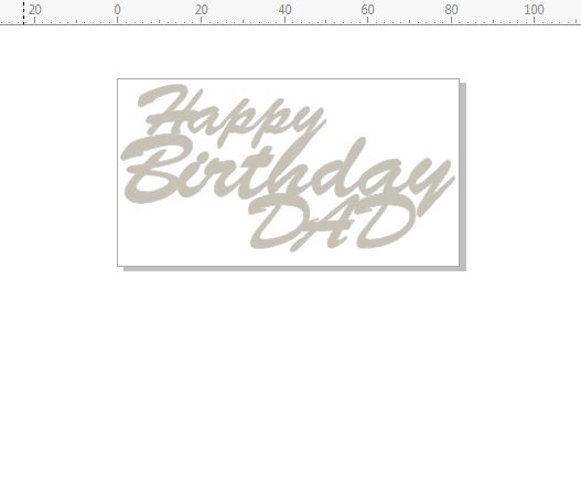 happy birthday dad  82 x 45  pack of 10 card size mini script