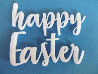 Acrylic word Happy Easter  min buy3