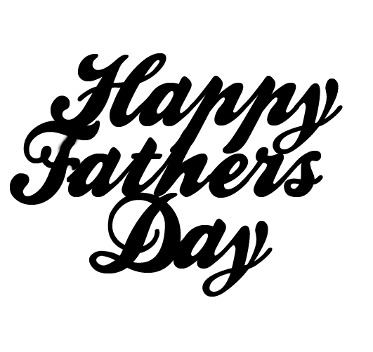 Happy Fathers day 70 x 35mm  Pack of 10