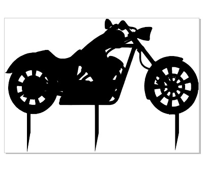 Motor Bike cake topper  162 x 112  cut in either black perspex