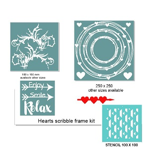 Scribble frame kit ,RETREAT OR WORKSHOP PACK  min buy 3