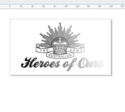Heroes of ours, 110 x 180 mm ANZAC , rising star ,world war, war