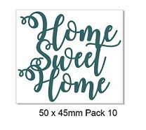 Home sweet home 50 x 45mm pack of 10
