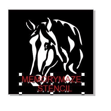 Horse  stencil multiple sizes available see drop down box min bu