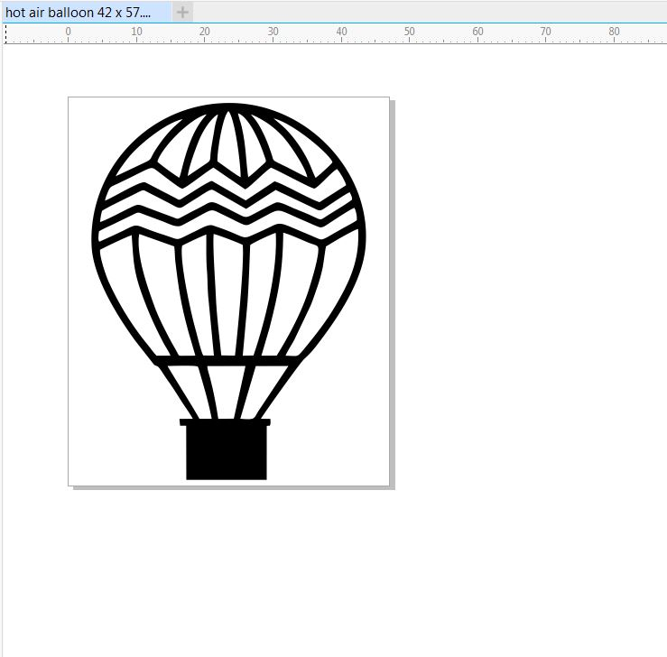 hot air balloon 45 x 57  pack of 10  small