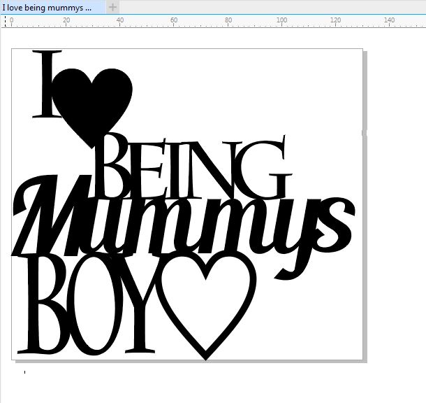 I love being mummys boy 130 x 115 min buy 3