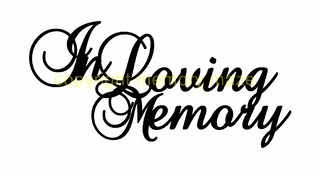 In loving memory 2 pack  80 x 60 mm ( Smallcard size) min buy 3