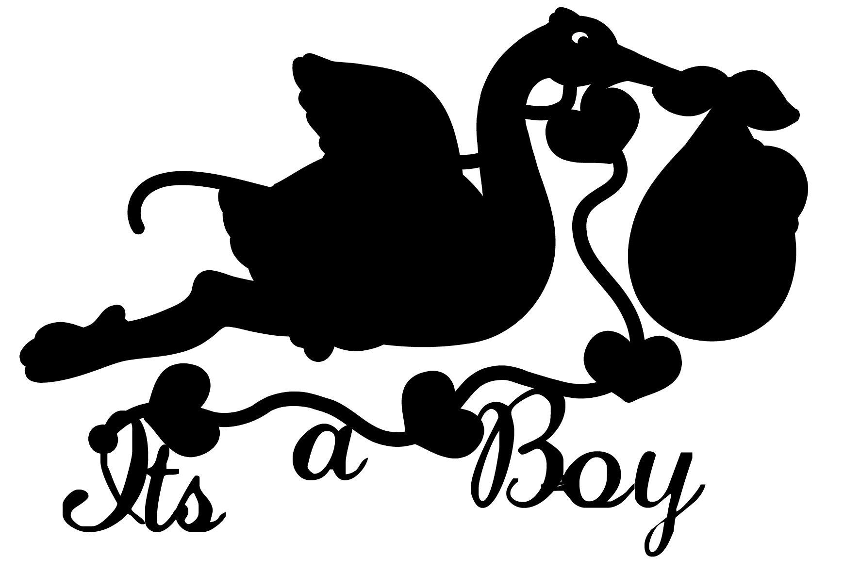 its a boy  with the stork  150 x 100 Min buy 3