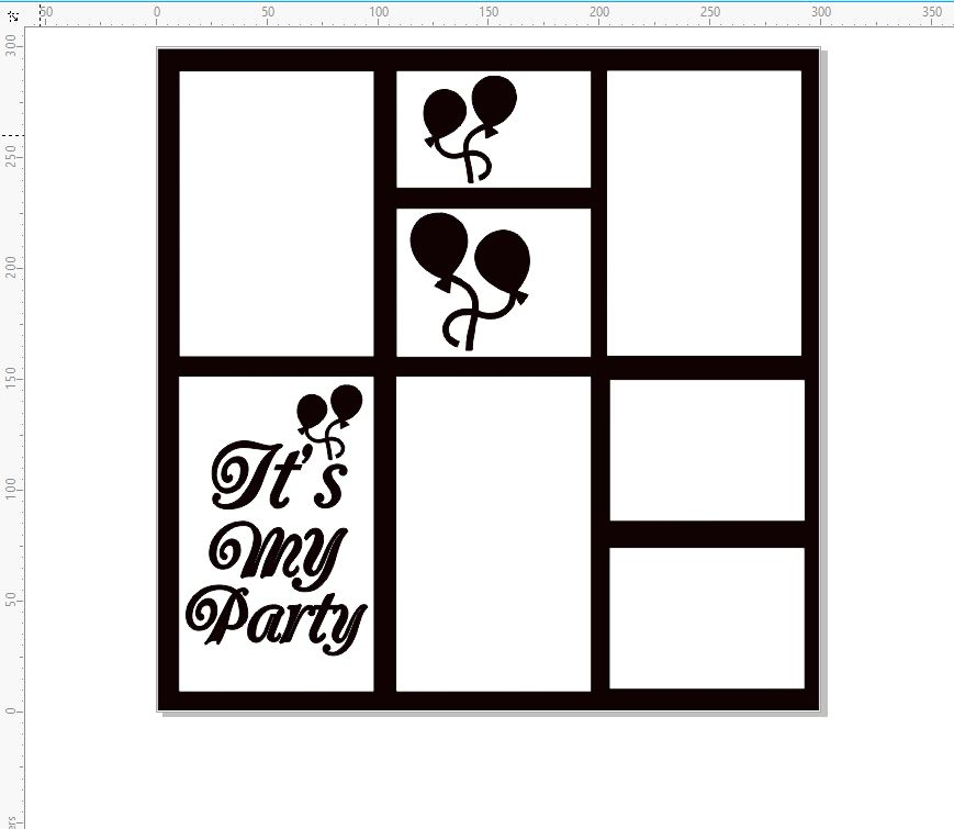 Its my party frame, 12 x 12 , Childrens party, adults party, Bir