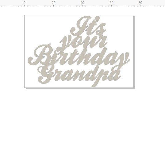 its your birthday grandpa 75 x 50 pack of 10 card size