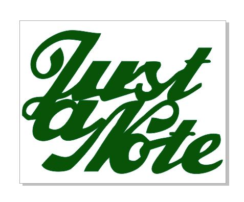 Just a note green 48 x 38 packs of 10