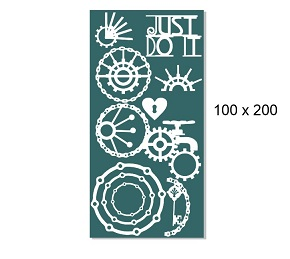 Just Do IT ,mechanicals,cogs,chain,100 x 200mm min buy 3