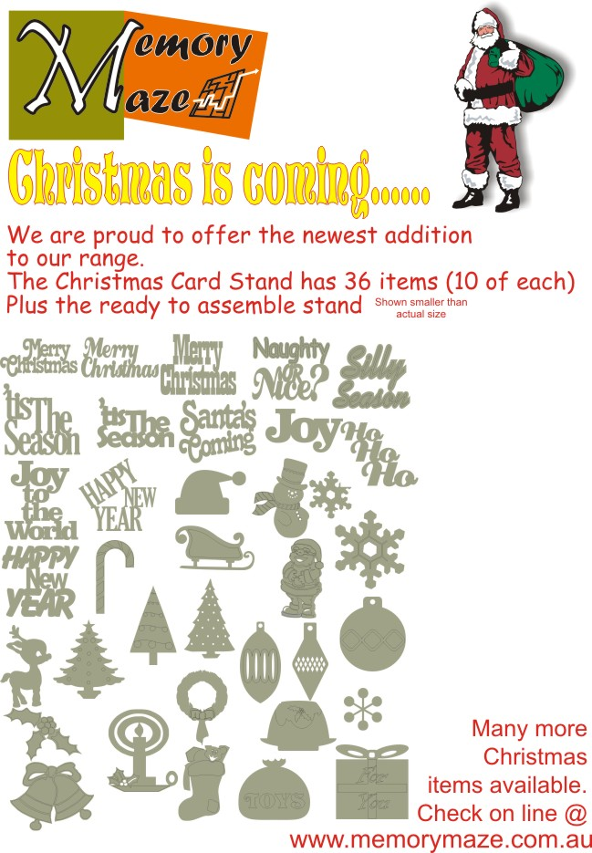 Christmas Card Kit without stand 360 items