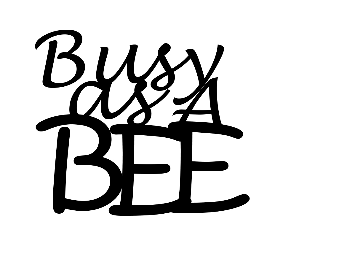 Busy as a Bee 130 x 120 MM  pack 5 BULK