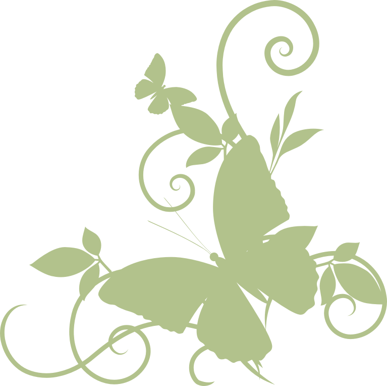 Butterfly Corner  flourish Sold in 3\'s