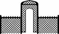 Lattice fence with arch 269 x 157mm
