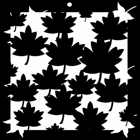 leaves Stencil  200 x 200 Min buy 3 Memory maze