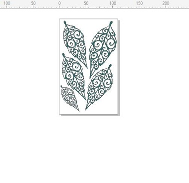 Leaves menindi style110 x 180mm