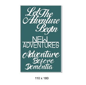 Let the Adventure begin,Australia,Live to travel, 150 x 180mm, M