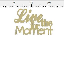 Live for the moment 100 x 60mm min buy 3