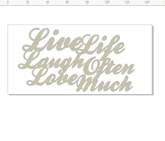 live life laugh often 145 x 70