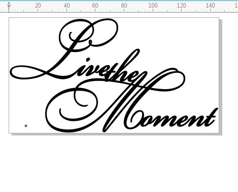 Live the moment  Script 146 x 80.mm Min buy 3