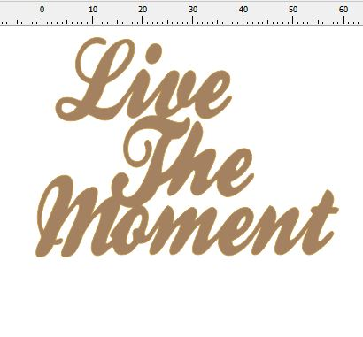 live the moment 63 x 45 Pack of 10