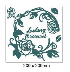 Looking forward, frames, flowers, roses,200 x 200 mm. min buy 3