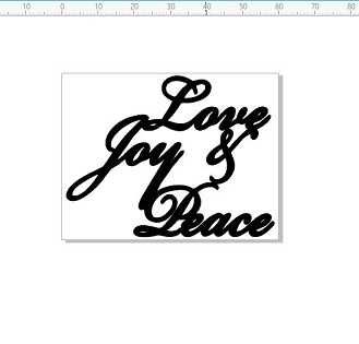 love joy peace  Christmas 60 x 46mm pack of 10