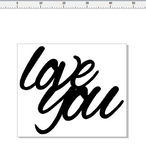 love you 47 x 40  pack of 10 card size