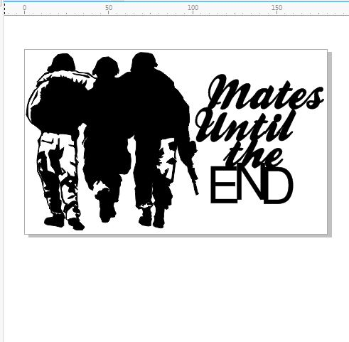 mates until the end  110 x 180 min buy 3