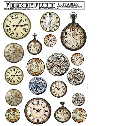 Mens clocks cuttables.A4.Min Buy 5