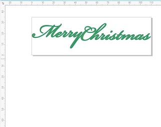 Merry Christmas 100X 23 mm pack 10