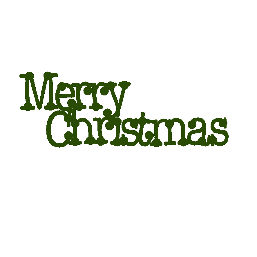 Merry Christmas  dot 62 x 24 mini word Green