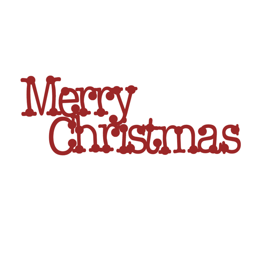 Merry Christmas  dot 62 x 24 mini word  Red