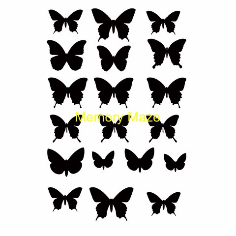 micro butterflies pocket pages 100 x 150  min buy 3