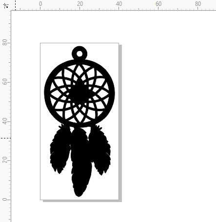 mini dream catcher, feathers,mystical, 80 x 40  pack of 5