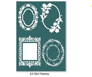 Mini Ornate Frames, A4. Min buy 3.