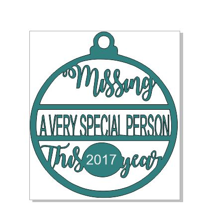 2017 Missing a very special person at Christmas WOOD 100 x 100mm