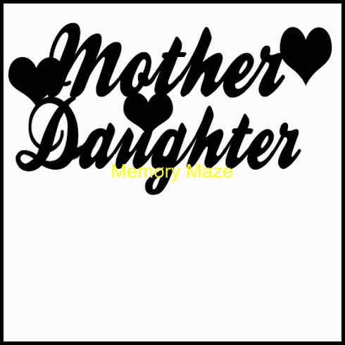 mother daughter hearts  120 x 30  min buy 3