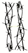 Double barb wire 100 x 190mm sold in 3's
